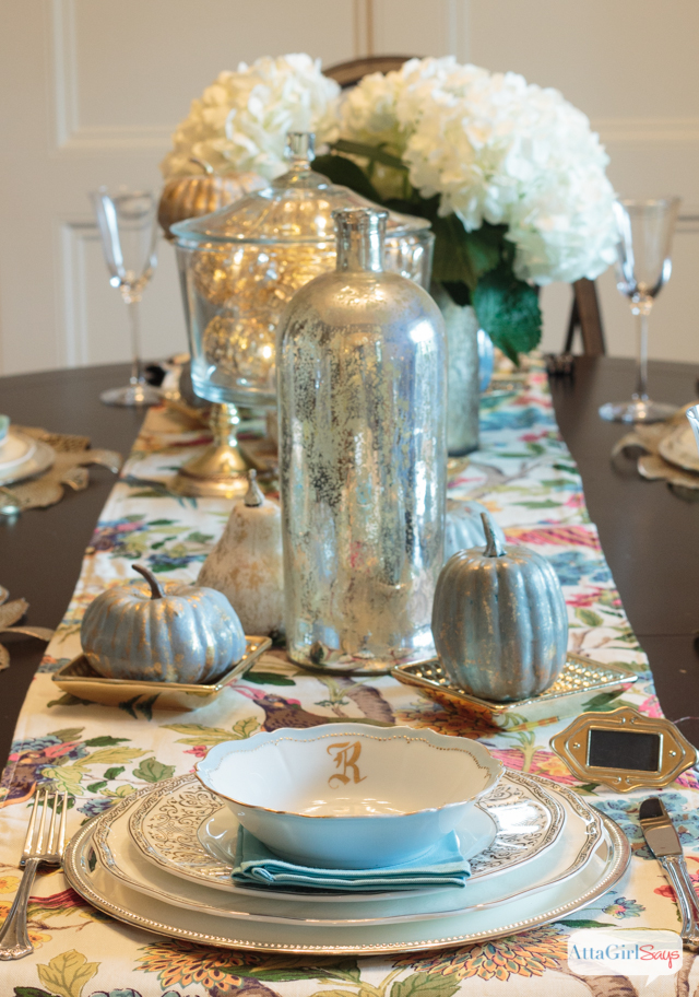 Metallic Fall Tablescape by Atta Girl Says