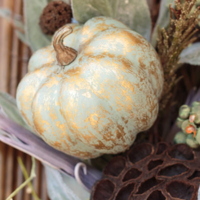Painted Metallic Foil Pumpkins