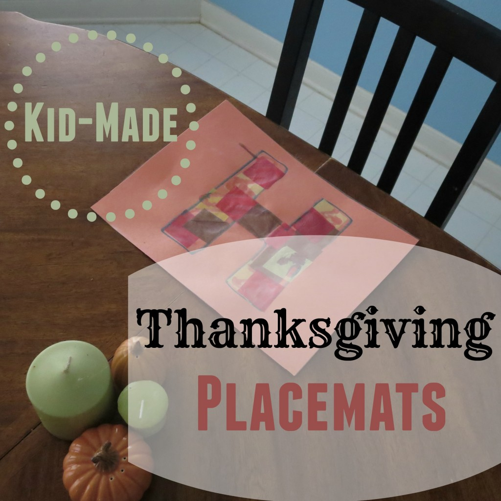 Your initial on your own placemat makes Thanksgiving even better!