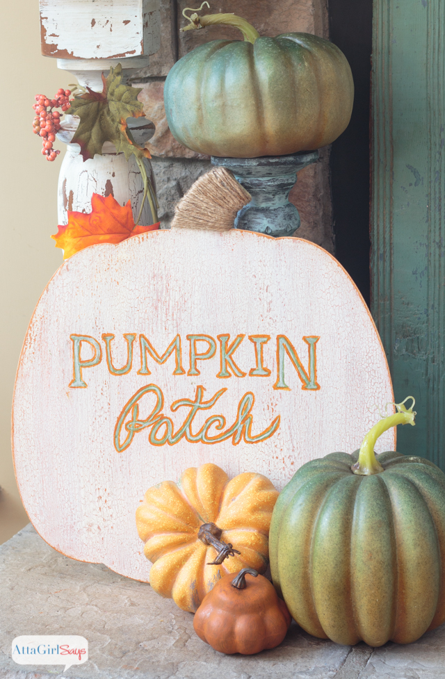painted metallic foil pumpkins - tgif