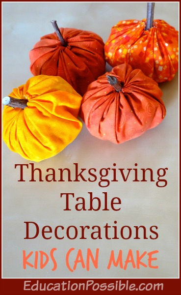 These pumpkins will be a fun way to decorate your table and placemats.