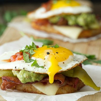 Bacon Egg Breakfast Stack