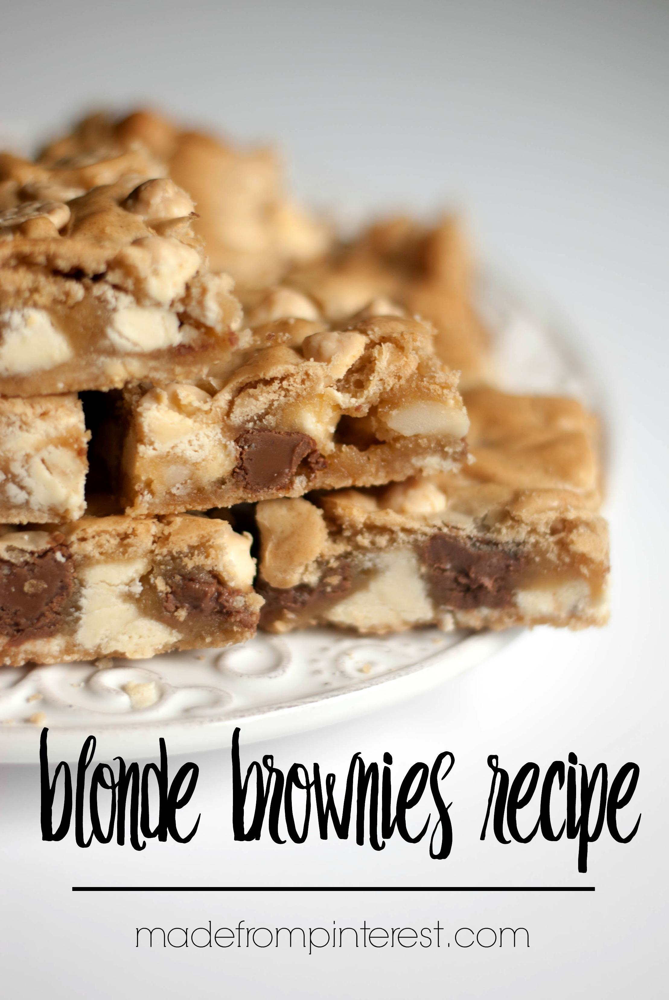 Blonde Brownies Recipe - TGIF - This Grandma is Fun