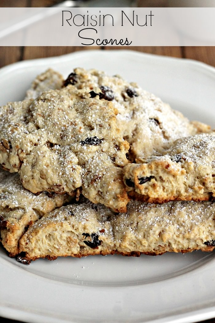 Homemade Scones with Raisins and Nuts, a perfect breakfast.