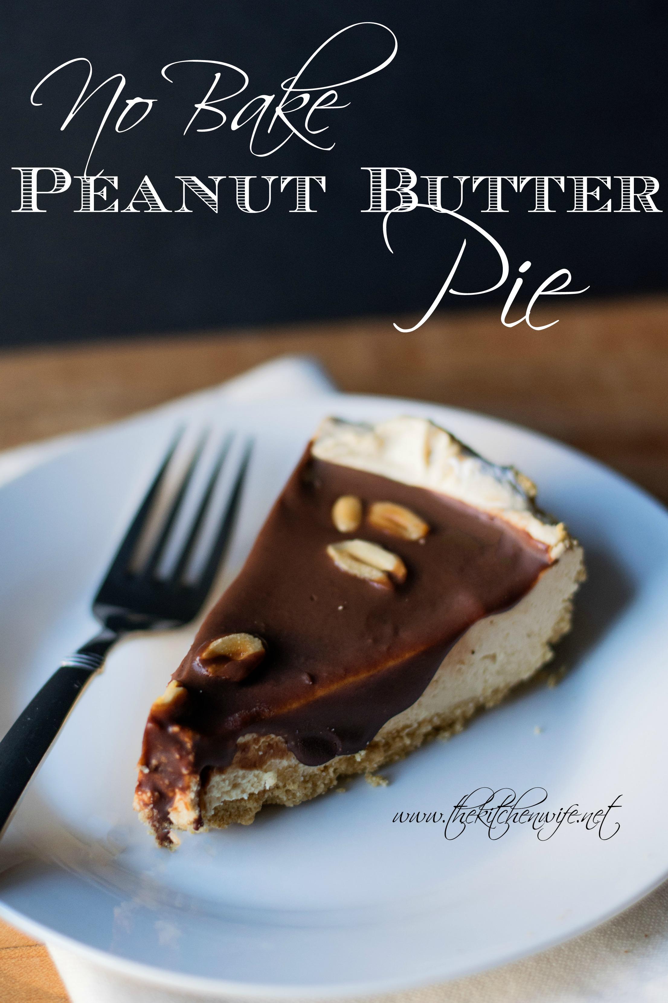 No Bake Peanut Butter Pie - Made From Pinterest