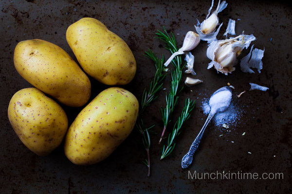 Perfectly Roasted Golden Potato by www.munchkintime.com