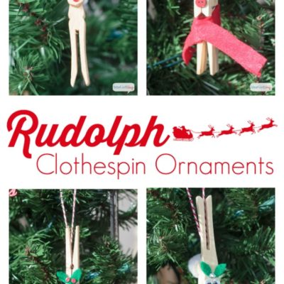 DIY Reindeer Clothespin Ornaments