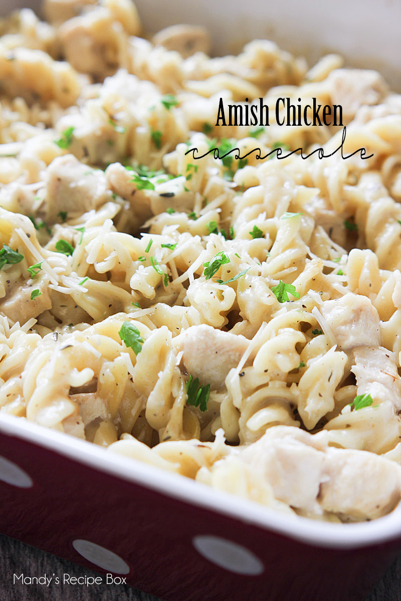 Amish Chicken Casserole is everything you would expect it to be by its name. Simple, easy and delicious!