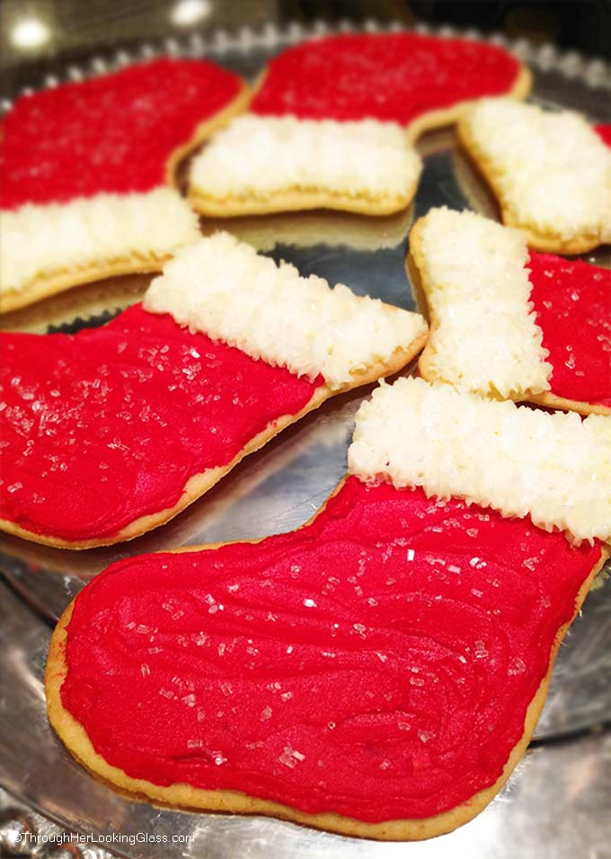 Addictive buttery Christmas Stocking Cookies. It's just not Christmas at my house without these light, crunchy roll-out Christmas cookies with buttercream.