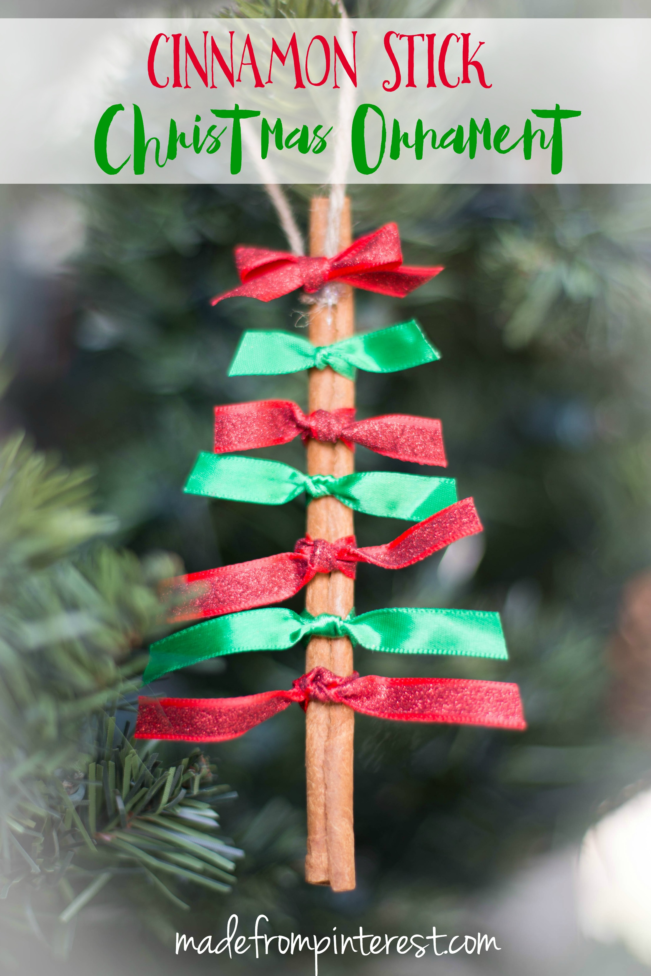 quick and easy to make these cinnamon stick christmas ornaments will add a darling look