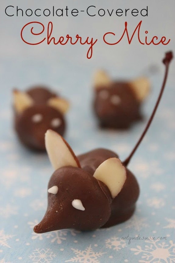 Easy-Holiday-Candy-Recipe-Chocolate-Covered-Cherry-Mice