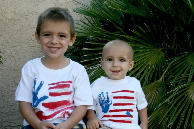Kids LOVE to wear these tee shirts that they've made themselves!