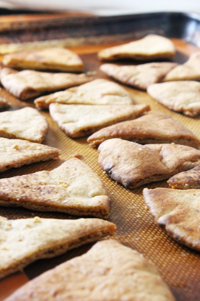 Learn how to make homemade pita chips with this simple and easy recipe from MadeFromPinterest.net