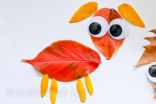Leaf craft for kids -- www.munchkintime.com-4
