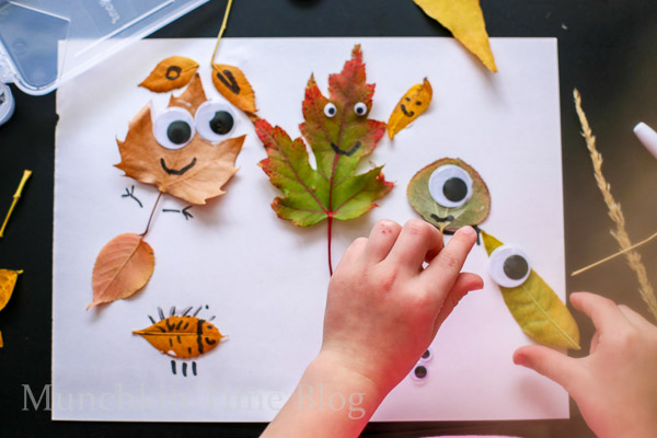 Leaf craft for kids -- www.munchkintime.com-7