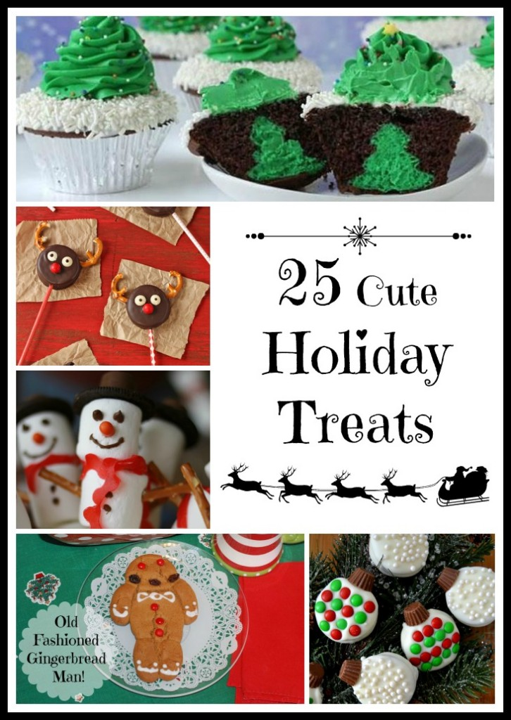 These 25 Cute Holiday Treats offer a variety of yummy ideas to bring in the Christmas season!