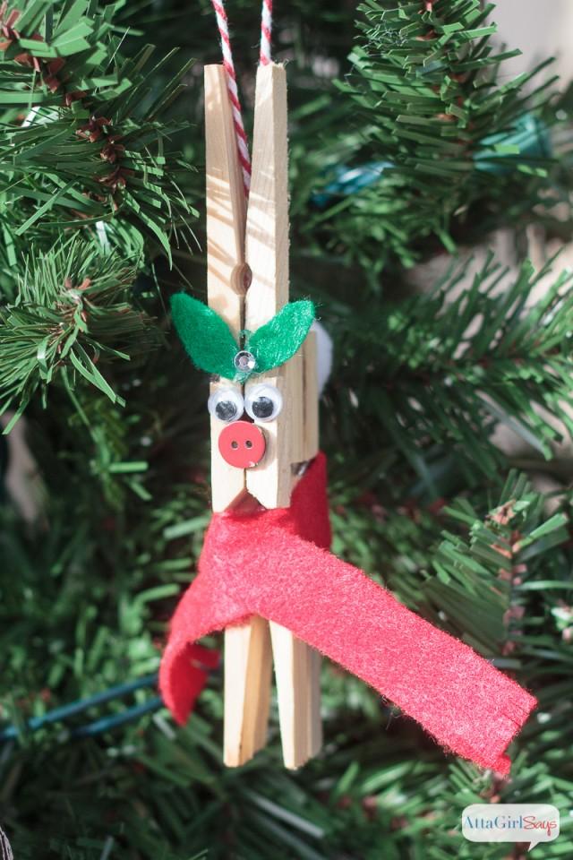 DIY Reindeer Clothespin Ornaments TGIF This Grandma Is Fun