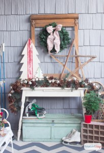 Vintage Christmas Porch