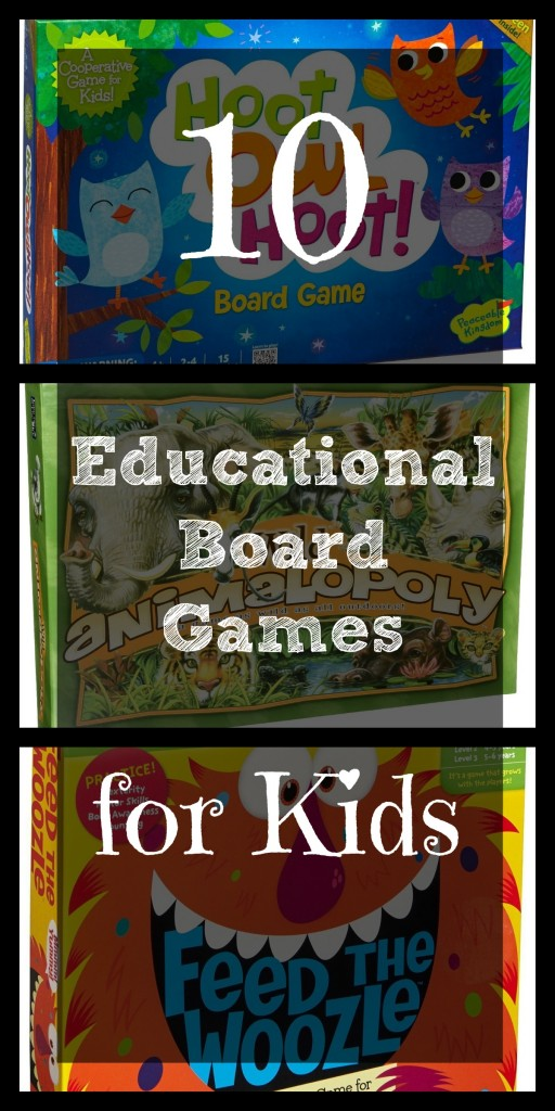 Instead of giving toys for Christmas, consider giving some Educational Board Games! Kids really do love them, especially if you take the time to play with them. Games last much longer than toys that break and the time spent together creates memories for years to come.