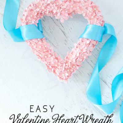 Valentine Heart Wreath with Paper Flowers
