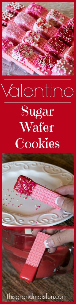 This recipe is a super quick way to make regular sugar wafers into a special Valentine's Day treat!