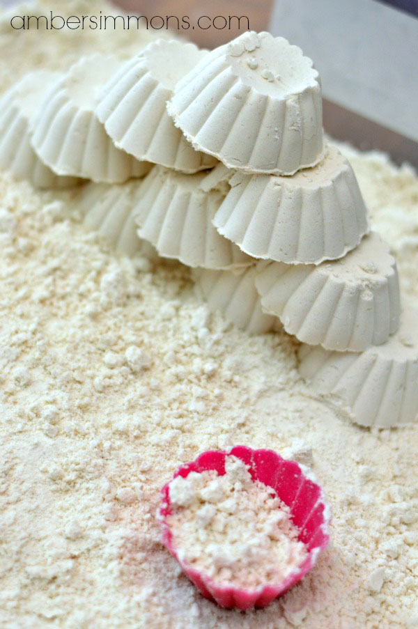 Homemade Moon Sand Recipe   Amber Simmons   DIY moon sand at home with just two ingredients.