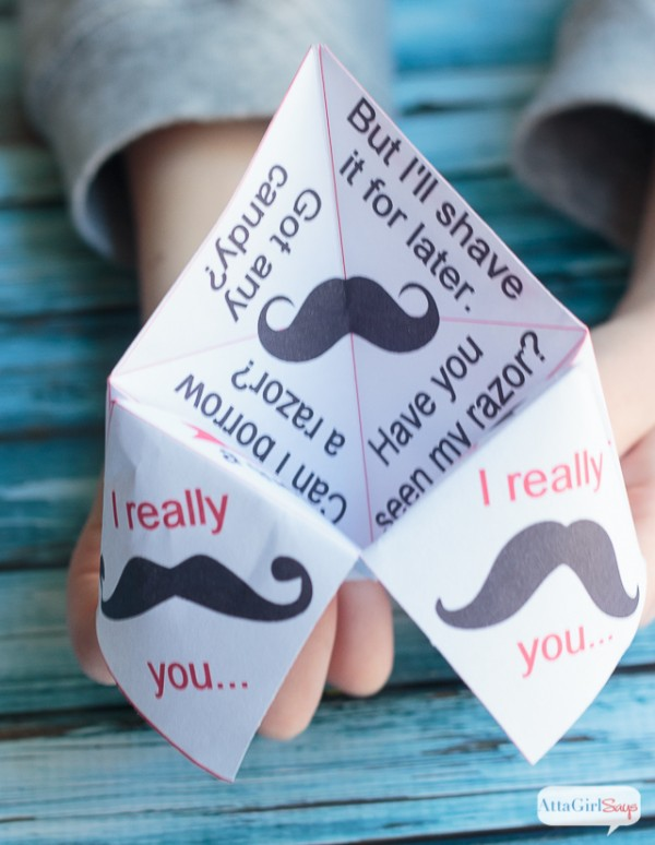 Printable Cootie Catcher Valentines