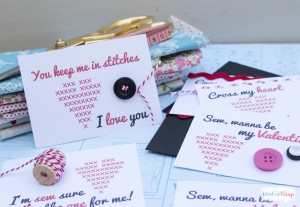 Sew Cute Printable Valentines