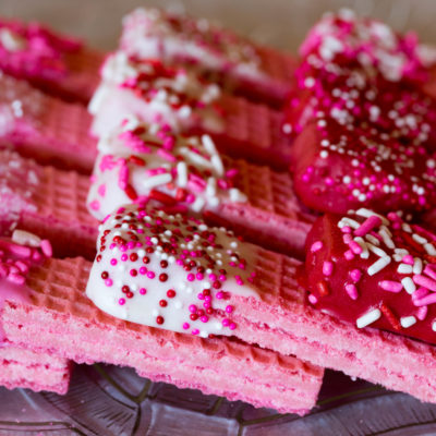 Valentine Sugar Wafer Cookies