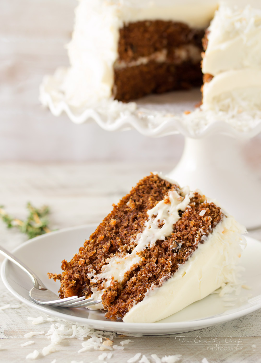 Homemade Carrot Cake With Crushed Pineapple