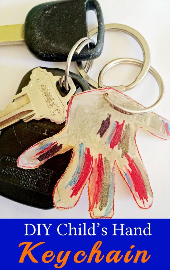 Child's Hand Keychain