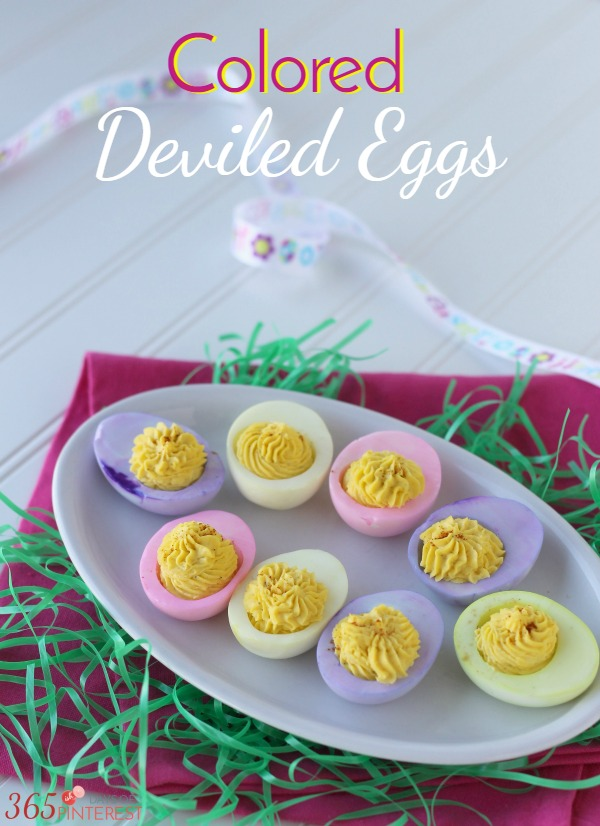 Colored Deviled Eggs: These are easy to make and deliciously perfect for Easter, which is just around the corner!