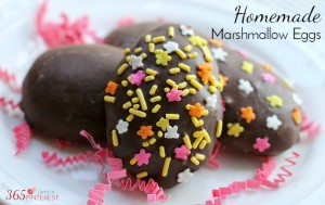 Homemade Marshmallow Eggs for Easter