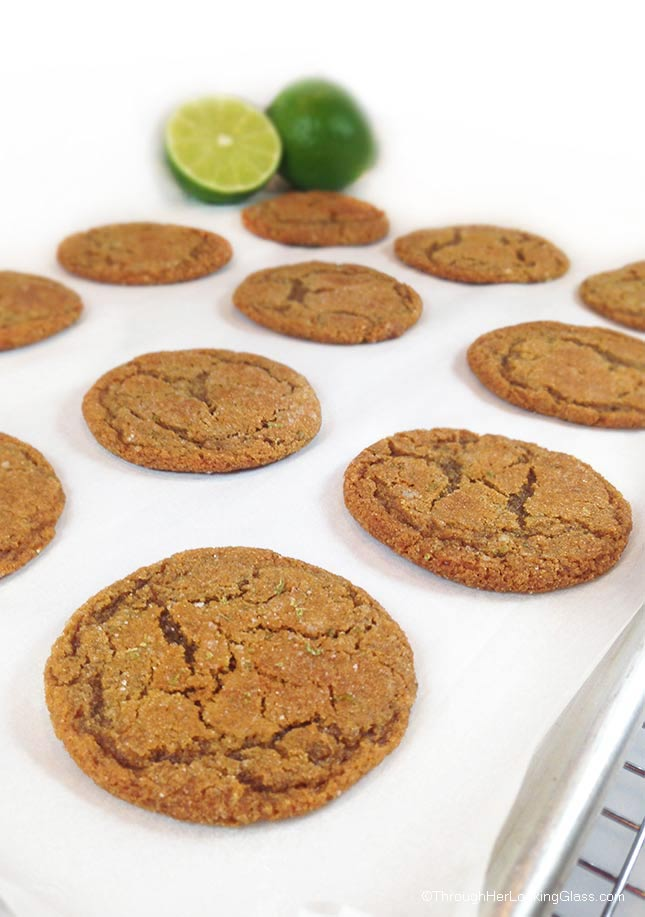 Lime Sugared Gingersnaps: the ginger and lime zest give these cookies a little tart zing, while the sugar keeps them sweet.