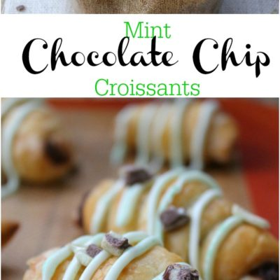 Mint Chocolate Chip Croissants