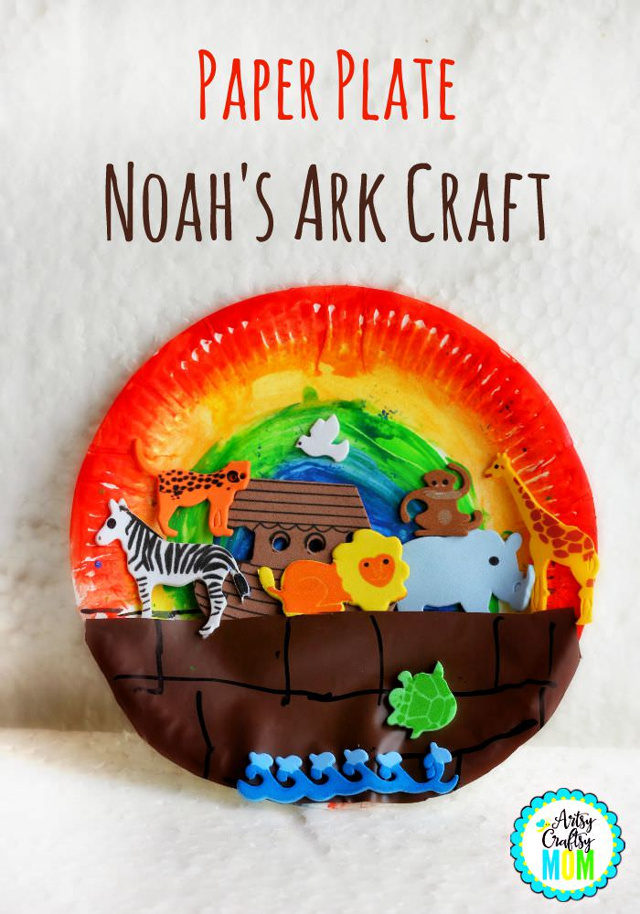 Paper-plate-Noahs-Ark-Craft & 100 Paper Plate Crafts for Kids - TGIF - This Grandma is Fun