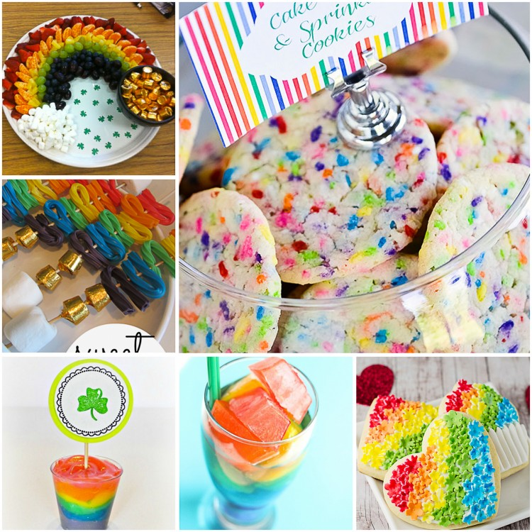 We have gathered 100 hundred delightful rainbow snacks, treats, and desserts you can make for your grandchildren. St. Patrick's Day is just around the corner. Sneaky leprechauns will be busy avoiding the many traps set for them so they can make it to the pot of gold at the end of the rainbow! Choose from rainbow cupcakes, jigglers, ice cream, cookie bark, candy kabobs, crepes, rainbow meringue cookies, fudge, smoothies, veggie kabobs, marshmallows, rainbow trifle, jelly roll cake, rainbow Poptarts, bread, bagels and more! Perfect for St. Patrick's Day, birthday parties, celebrations or just because!