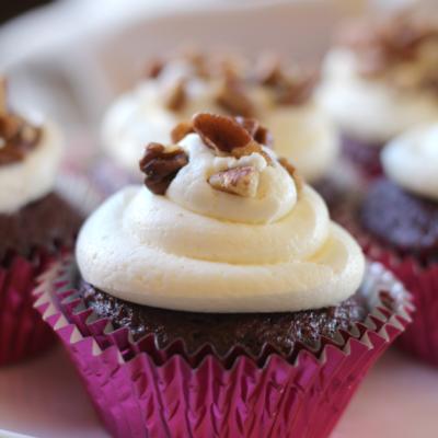 Pecan Red Velvet Cupcakes