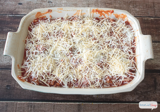 This is the lasagna recipe that my husband used to win my heart! He cooked up a batch of this on the night he proposed. Of course, I said yes!