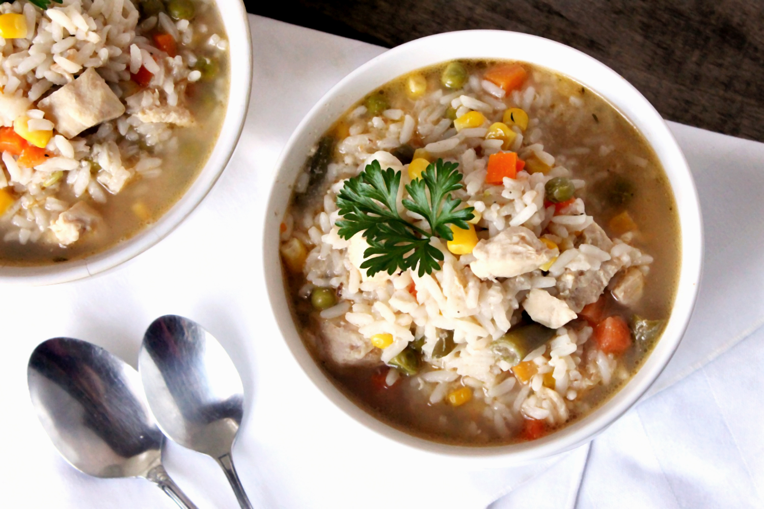 Hearty Chicken and Rice Soup - TGIF - This Grandma is Fun