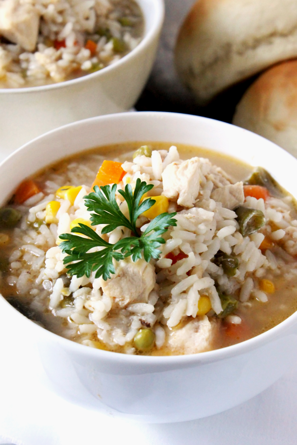 This Hearty Chicken and Rice Soup is the perfect pick me up on a long ...