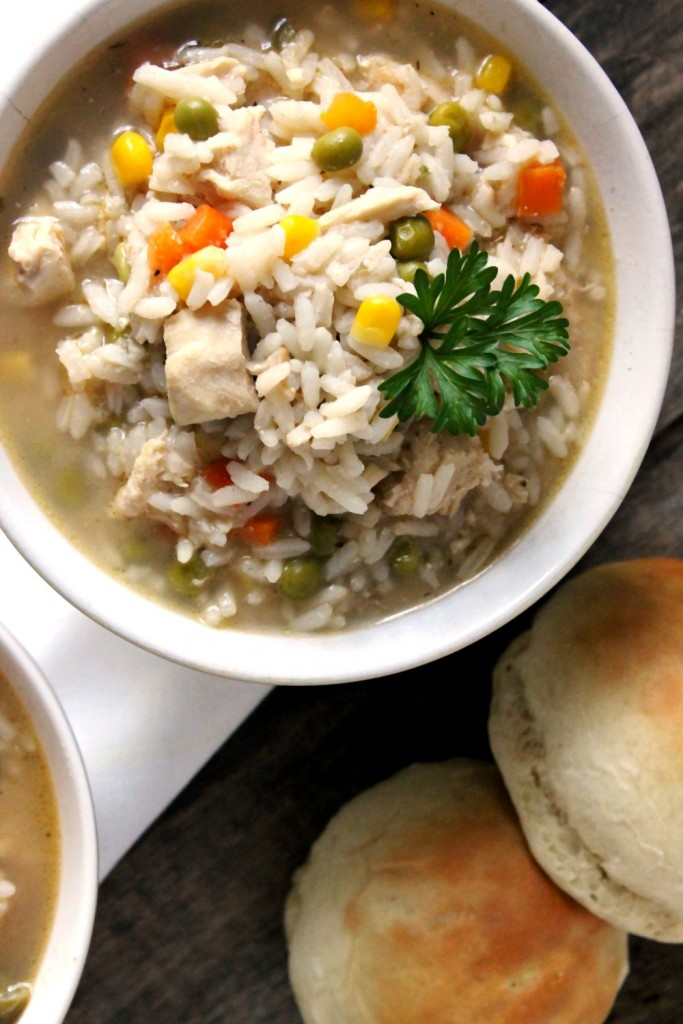 This Hearty Chicken and Rice Soup is the perfect pick me up on a long chilly day and is super easy to make!