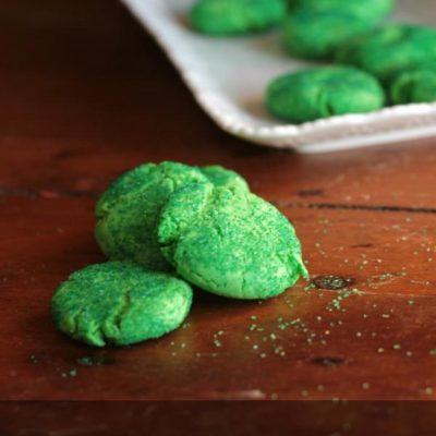 Tangy Lime Snaps St. Patrick's Day Cookies