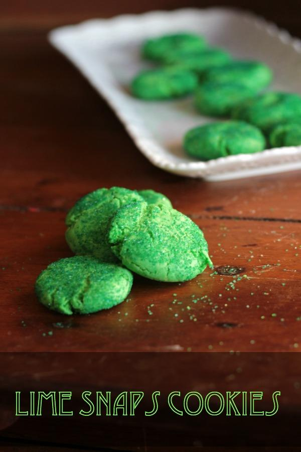 Easy St. Patrick's Day cookies, these lime snaps are so pretty and they are so good!