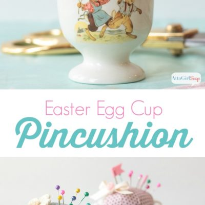 Easter Egg Cup Pincushion