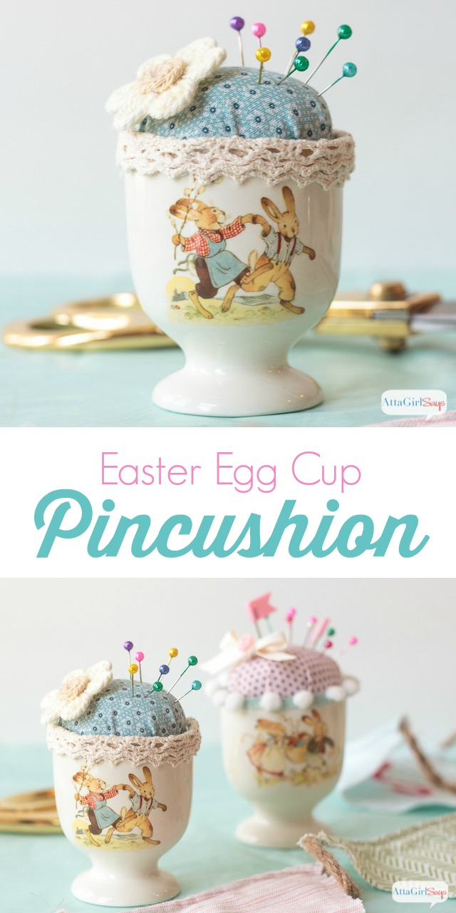 This adorable Easter Egg Cup Pincushion craft, is perfect for anyone who loves to sew.