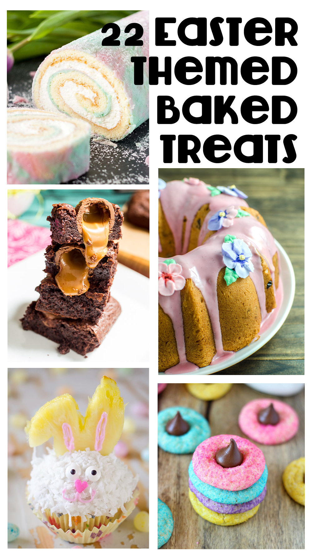 22 Delicious Easter Themed Baked Treats: Whether it's beautifully rich, decadent bread, cakes, cupcakes, or cookies - baked goods should be an essential part of your Easter brunch menu!