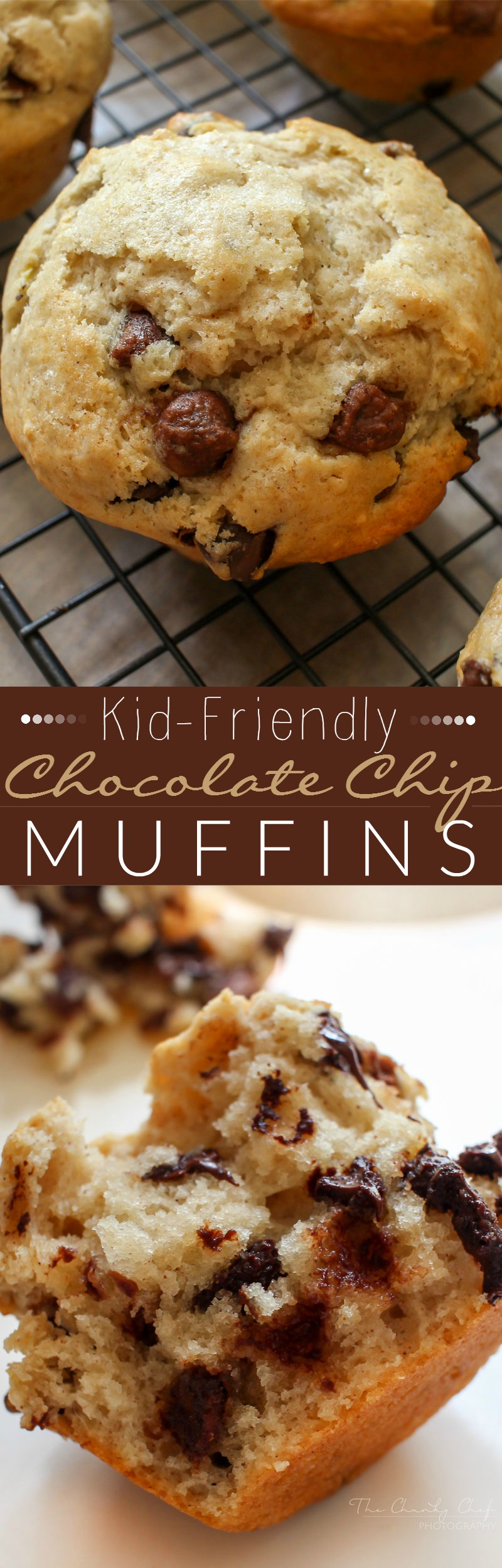 These are the BEST kid-friendly Chocolate Chip Muffins. You won't be able to eat just one of these because of their warm, chocolatey, fluffy goodness!
