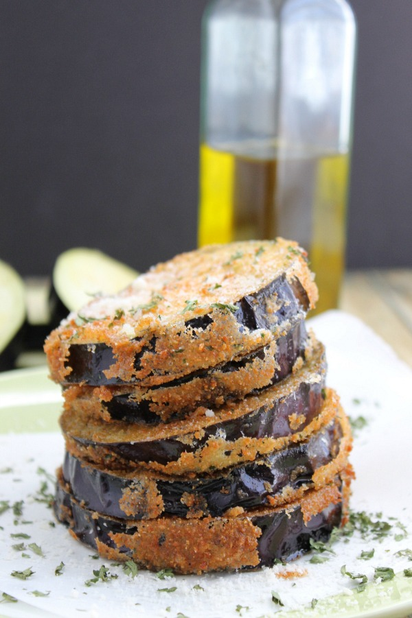 An easy recipe for Fried Eggplant that is coated in breadcrumbs and fresh herbs!