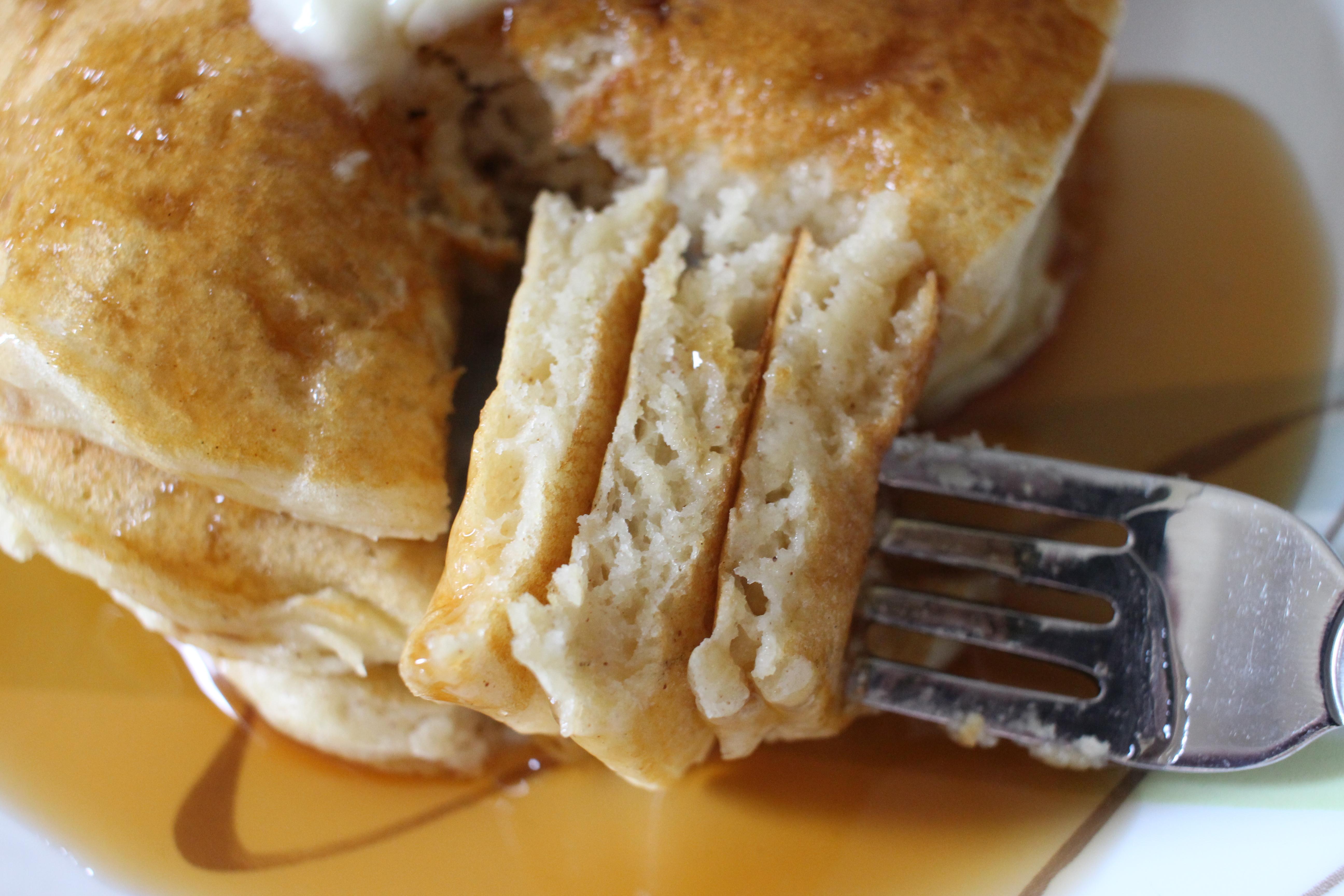 Buttermilk Vanilla Cinnamon Pancakes